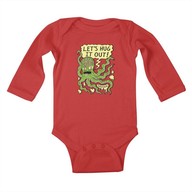 Lets Hug It Out Kids Baby Longsleeve Bodysuit by JARHUMOR
