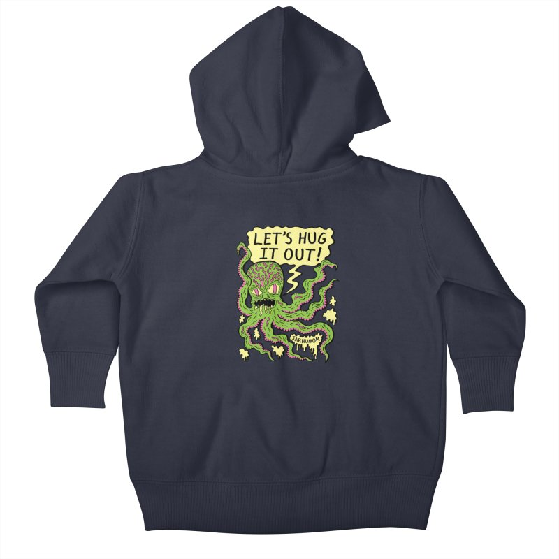 Lets Hug It Out Kids Baby Zip-Up Hoody by James A. Roberson (JARHUMOR)
