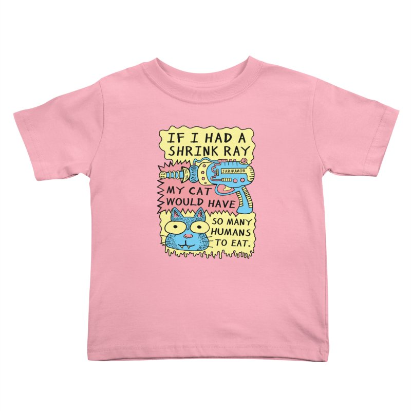 Shrink Ray Cat Kids Toddler T-Shirt by James A. Roberson (JARHUMOR)