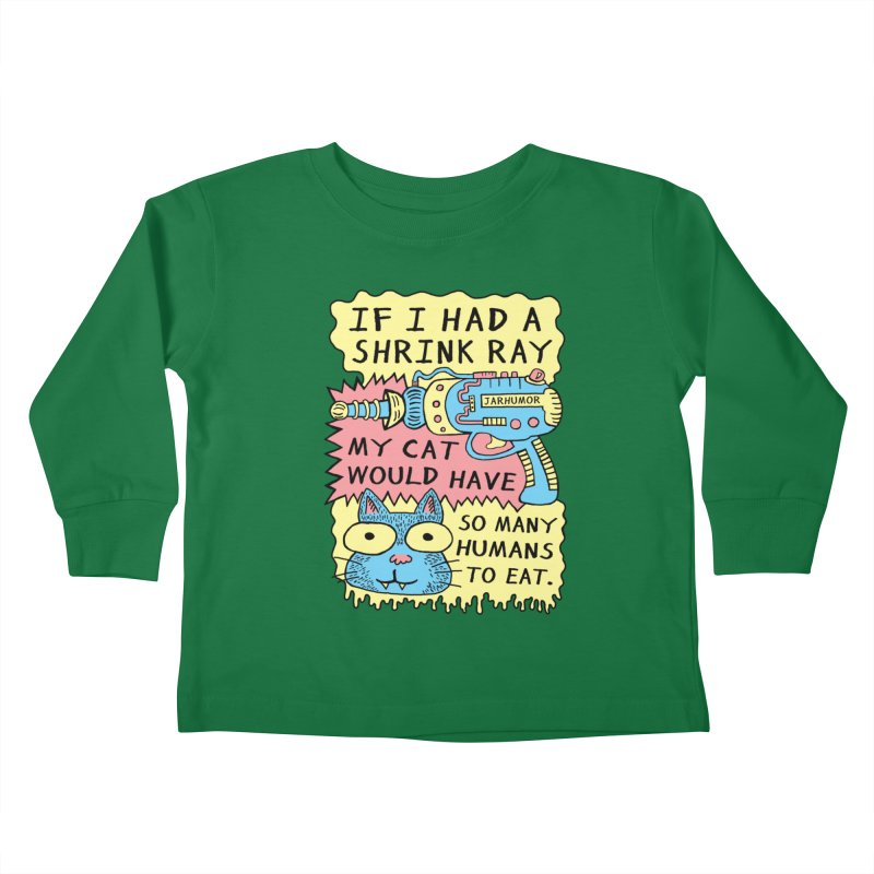 Shrink Ray Cat Kids Toddler Longsleeve T-Shirt by JARHUMOR