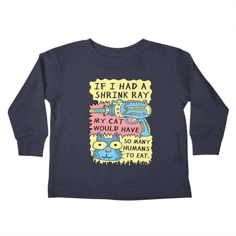 Shrink Ray Cat Kids Toddler Longsleeve T-Shirt by JARHUMOR