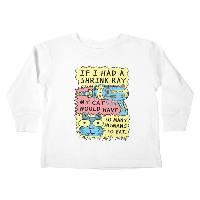 Shrink Ray Cat Kids Toddler Longsleeve T-Shirt by James A. Roberson (JARHUMOR)