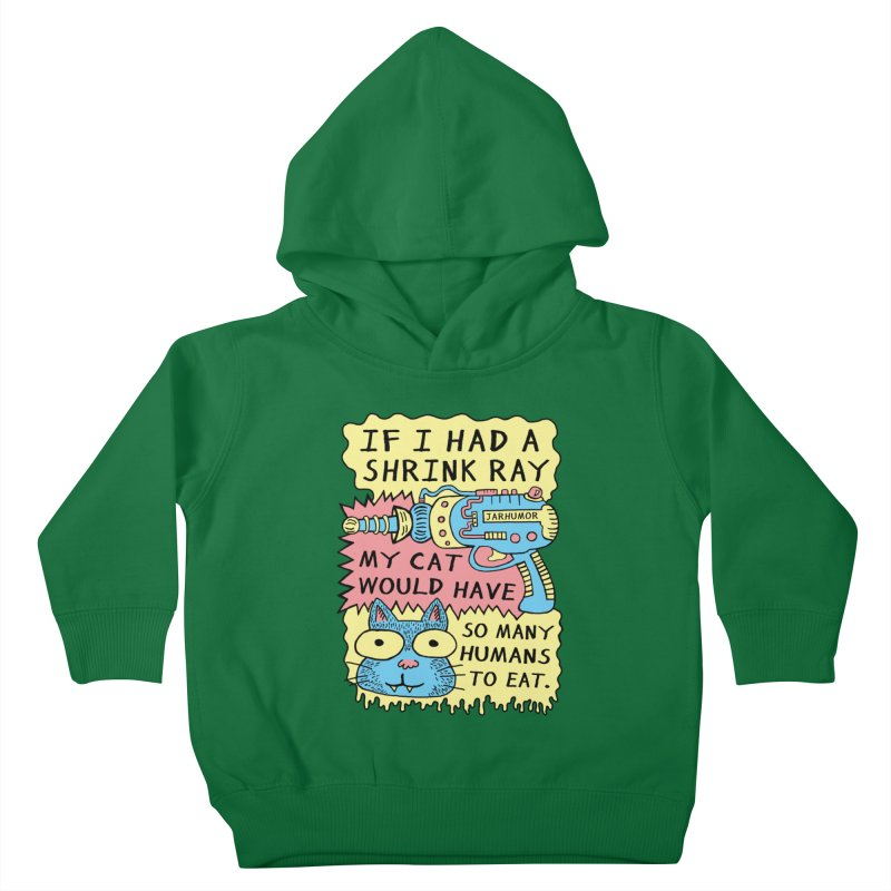 Shrink Ray Cat Kids Toddler Pullover Hoody by James A. Roberson (JARHUMOR)