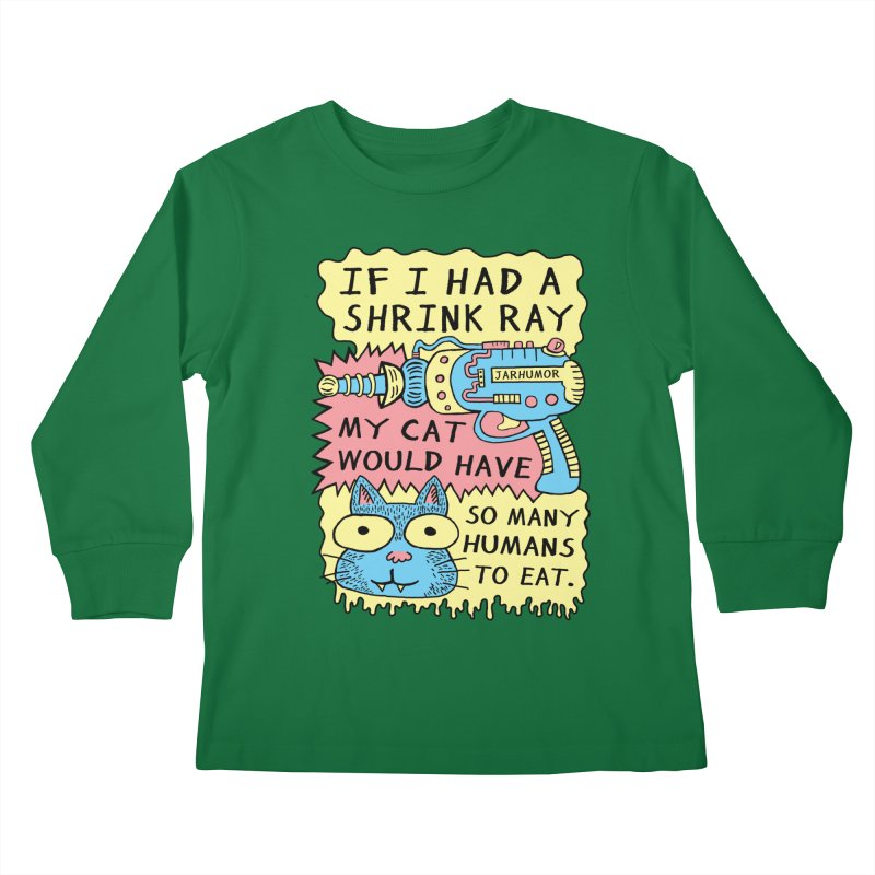 Shrink Ray Cat Kids Longsleeve T-Shirt by James A. Roberson (JARHUMOR)