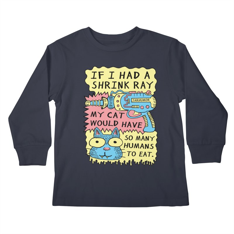 Shrink Ray Cat Kids Longsleeve T-Shirt by James A. Roberson (JARHUMOR)