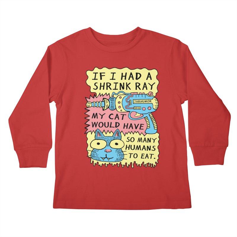 Shrink Ray Cat Kids Longsleeve T-Shirt by JARHUMOR