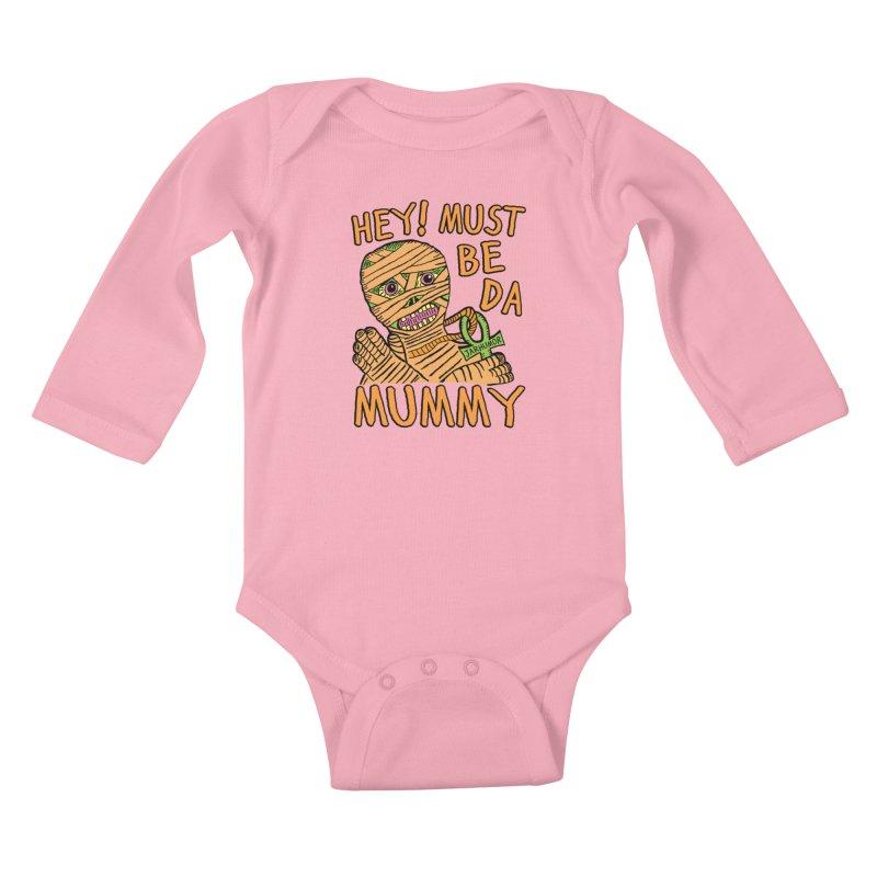 Da Mummy Kids Baby Longsleeve Bodysuit by JARHUMOR