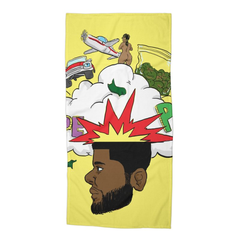 Scatterbrain with a Chance of Showers [Collector's Edition] Accessories Beach Towel by Jase Harley Media