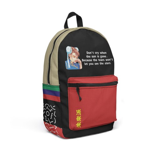 """Design for """"Chun Li"""" Travel Backpack by Jase Harley  [Collector's Series]"""