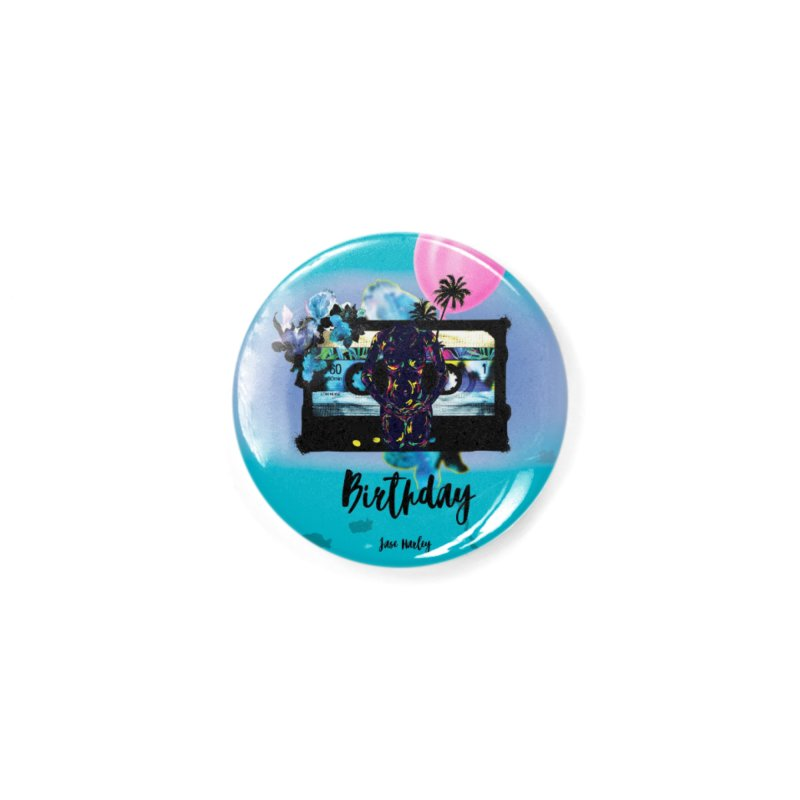 Birthday Accessories Button by Jase Harley Media