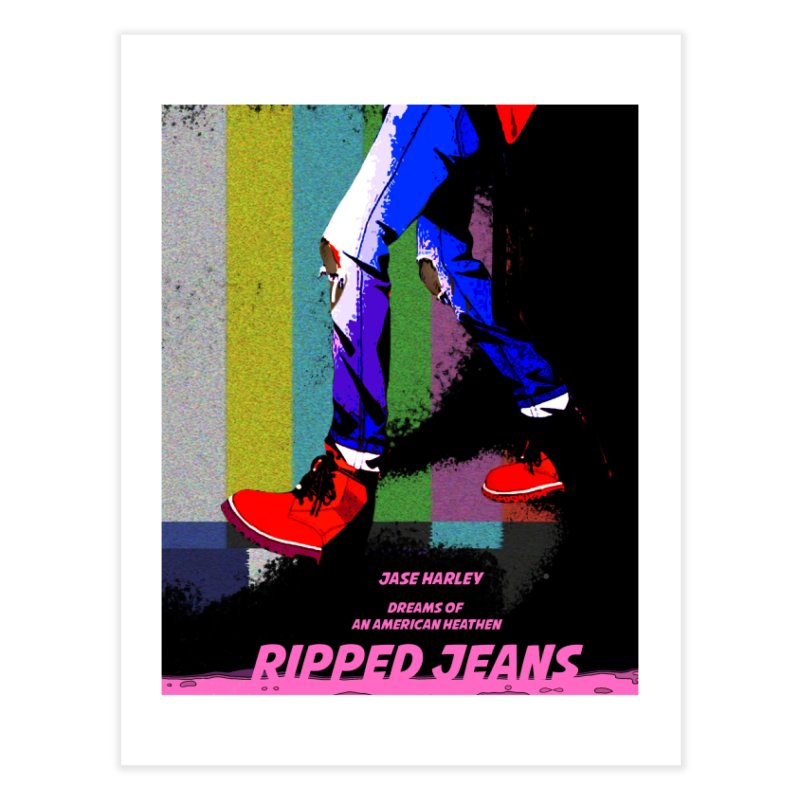 Ripped Jeans Home Fine Art Print by Jase Harley Media