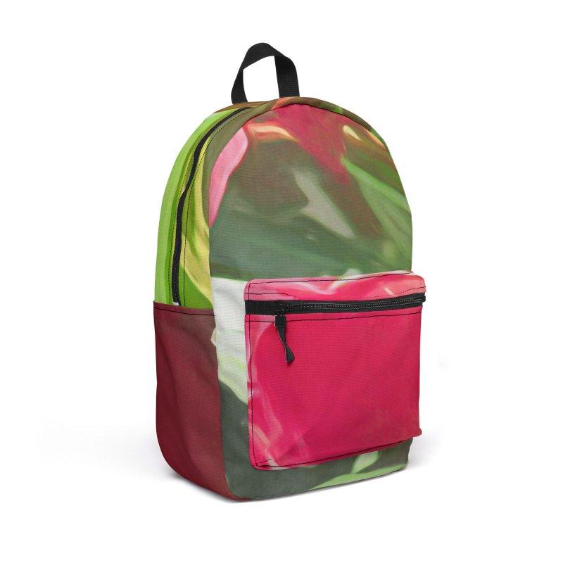 Pink Oleander Accessories Backpack Bag by Jasmina Seidl's Artist Shop