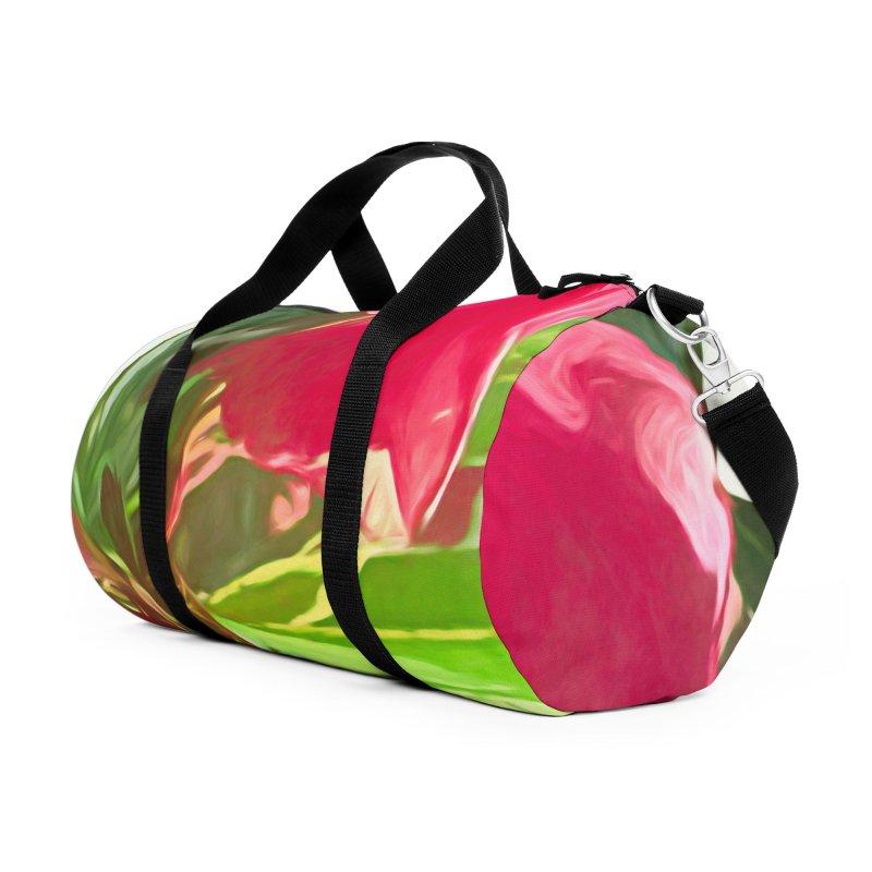 Pink Oleander Accessories Duffel Bag Bag by Jasmina Seidl's Artist Shop