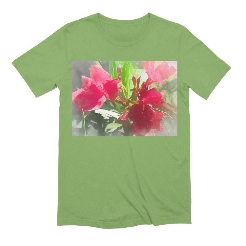 Pink Oleander Men's Extra Soft T-Shirt by Jasmina Seidl's Artist Shop