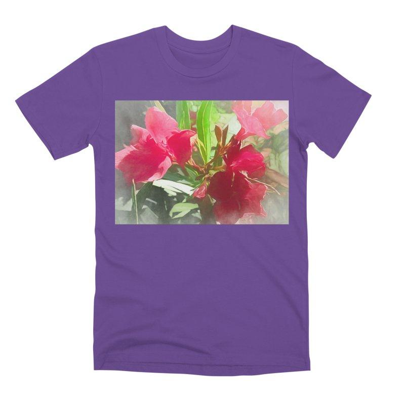 Pink Oleander Men's Premium T-Shirt by Jasmina Seidl's Artist Shop