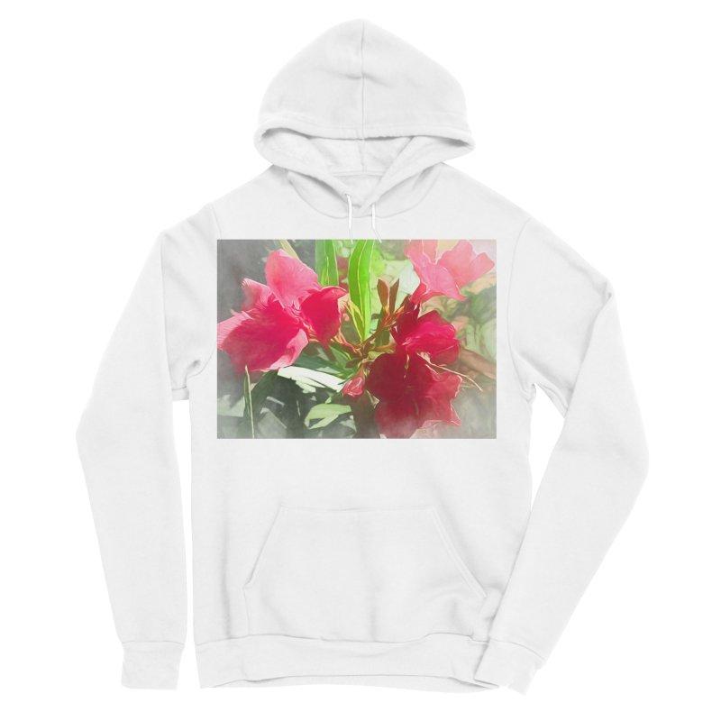 Pink Oleander Men's Sponge Fleece Pullover Hoody by Jasmina Seidl's Artist Shop