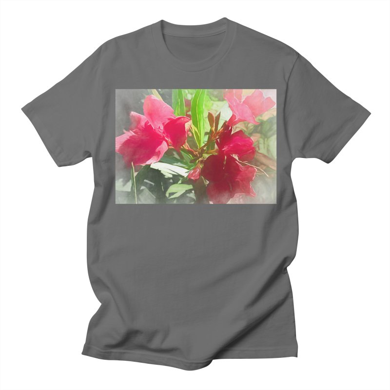 Pink Oleander Men's T-Shirt by Jasmina Seidl's Artist Shop