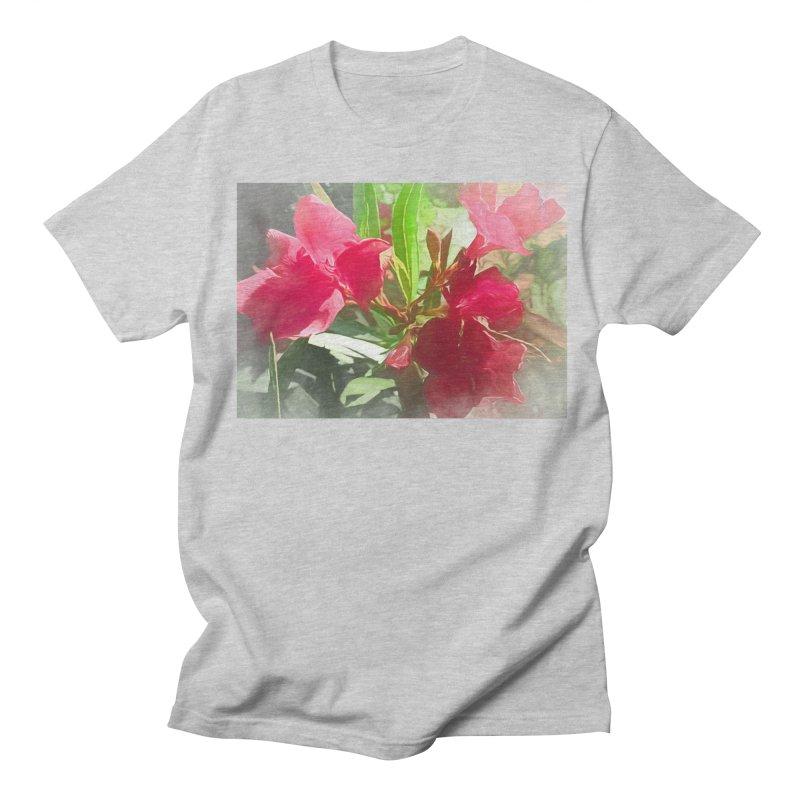 Pink Oleander Women's Regular Unisex T-Shirt by Jasmina Seidl's Artist Shop