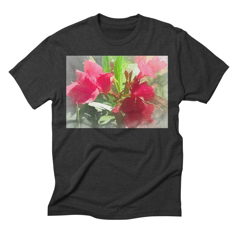 Pink Oleander Men's Triblend T-Shirt by Jasmina Seidl's Artist Shop