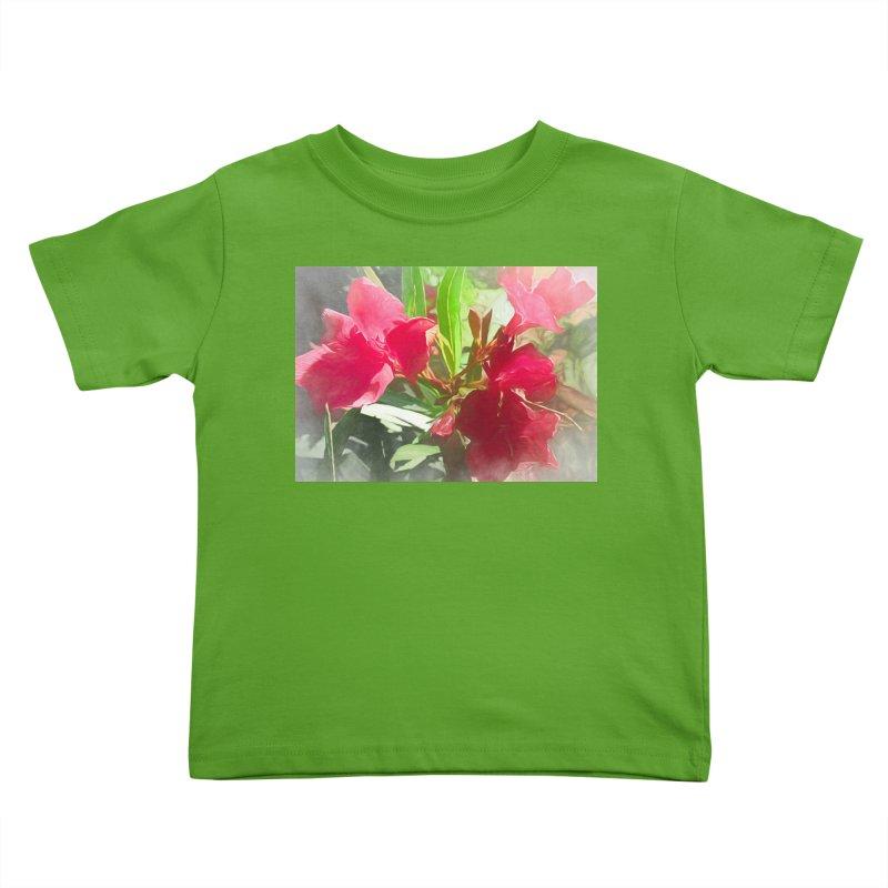 Pink Oleander Kids Toddler T-Shirt by Jasmina Seidl's Artist Shop