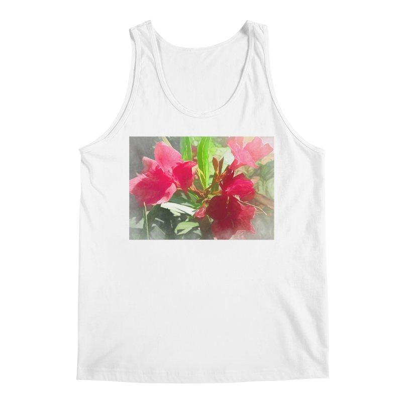Pink Oleander Men's Regular Tank by Jasmina Seidl's Artist Shop