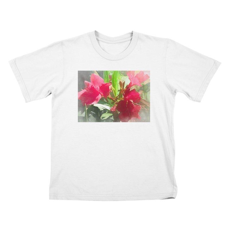 Pink Oleander Kids T-Shirt by Jasmina Seidl's Artist Shop