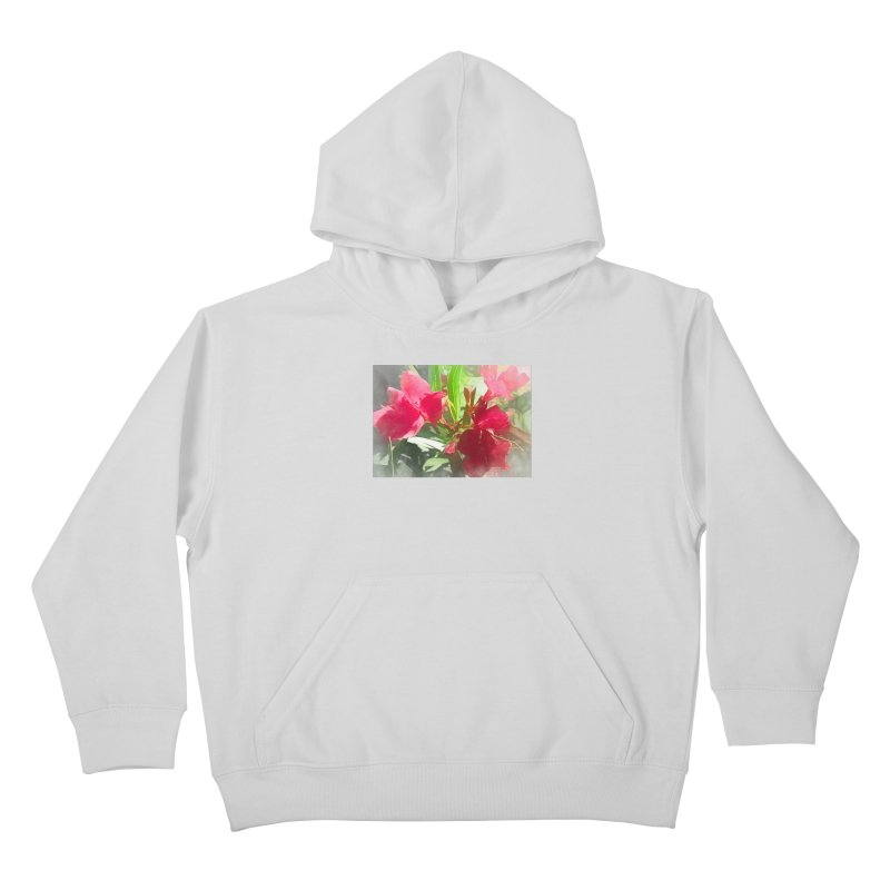Pink Oleander Kids Pullover Hoody by Jasmina Seidl's Artist Shop