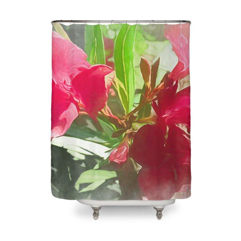 Pink Oleander Home Shower Curtain by Jasmina Seidl's Artist Shop