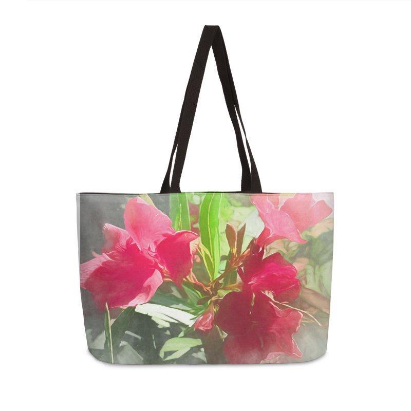 Pink Oleander Accessories Weekender Bag Bag by Jasmina Seidl's Artist Shop