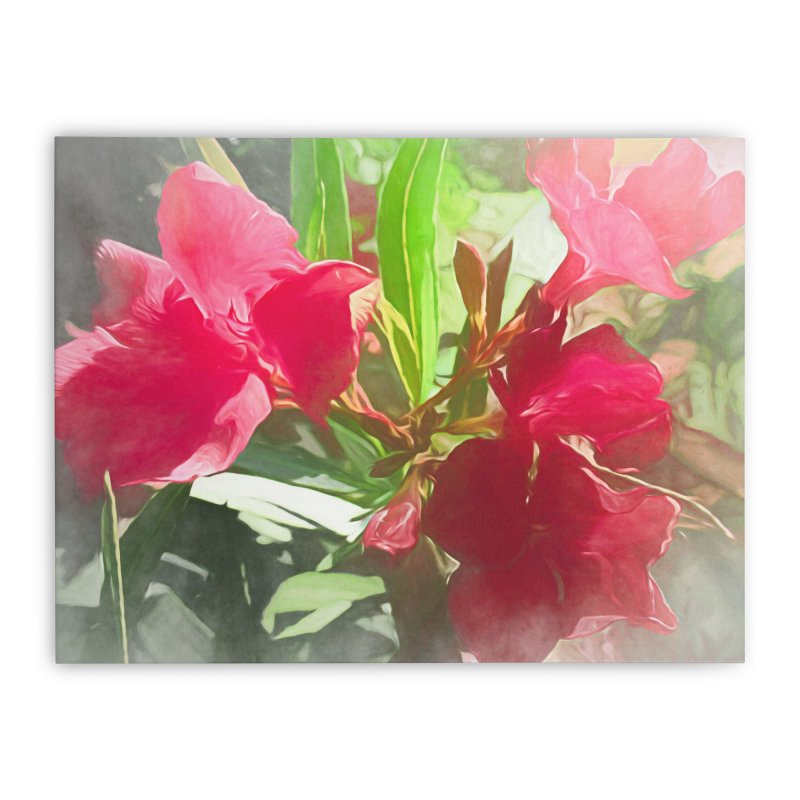 Pink Oleander Home Stretched Canvas by Jasmina Seidl's Artist Shop