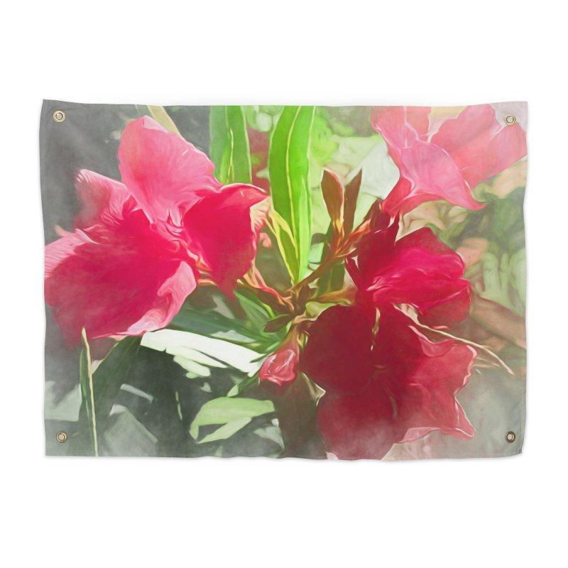 Pink Oleander Home Tapestry by Jasmina Seidl's Artist Shop