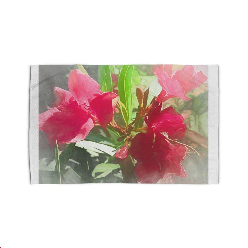 Pink Oleander Home Rug by Jasmina Seidl's Artist Shop