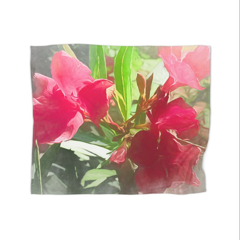 Pink Oleander Home Fleece Blanket Blanket by Jasmina Seidl's Artist Shop