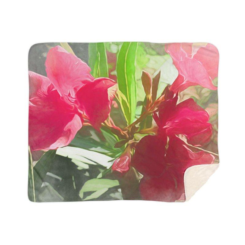 Pink Oleander Home Sherpa Blanket Blanket by Jasmina Seidl's Artist Shop