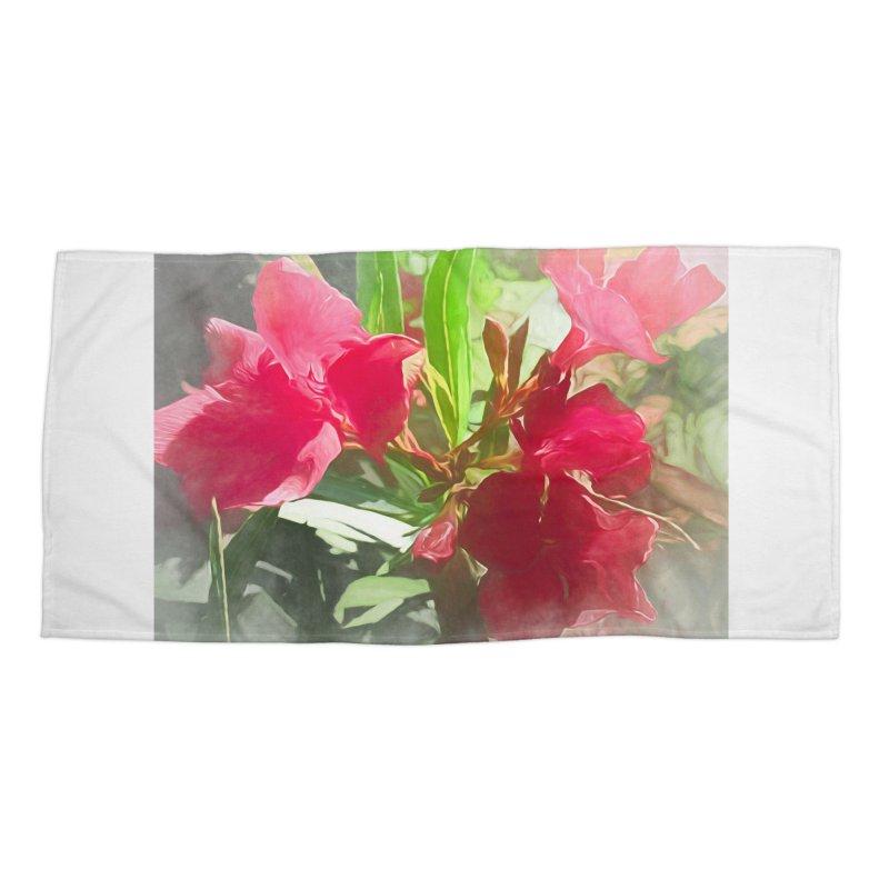 Pink Oleander Accessories Beach Towel by Jasmina Seidl's Artist Shop