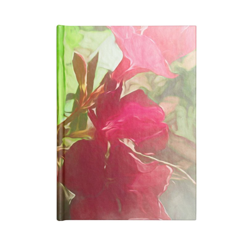 Pink Oleander Accessories Lined Journal Notebook by Jasmina Seidl's Artist Shop
