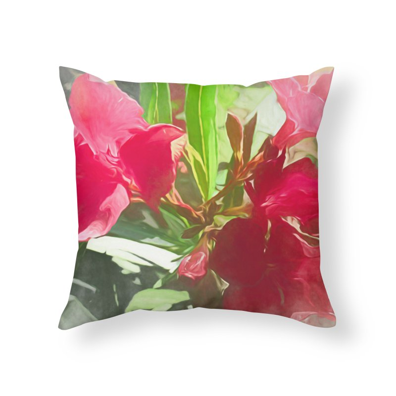 Pink Oleander Home Throw Pillow by Jasmina Seidl's Artist Shop