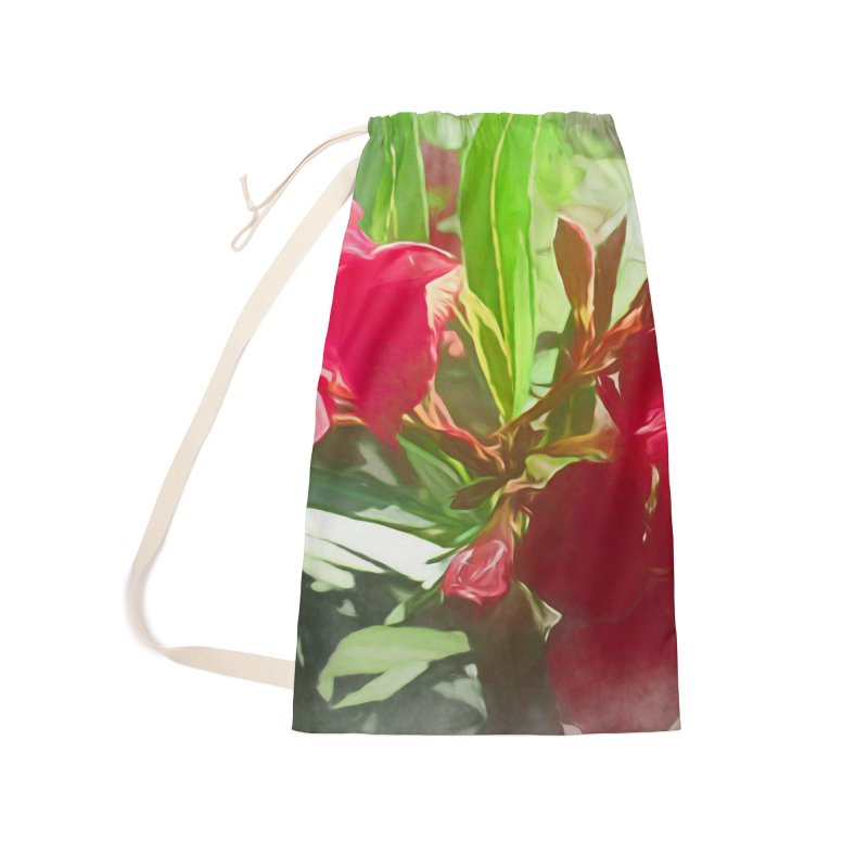 Pink Oleander Accessories Laundry Bag Bag by Jasmina Seidl's Artist Shop