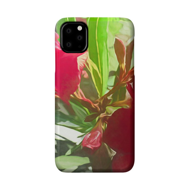 Pink Oleander Accessories Phone Case by Jasmina Seidl's Artist Shop