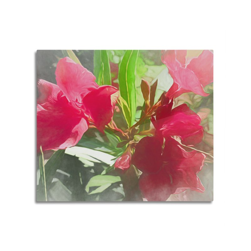Pink Oleander Home Mounted Acrylic Print by Jasmina Seidl's Artist Shop