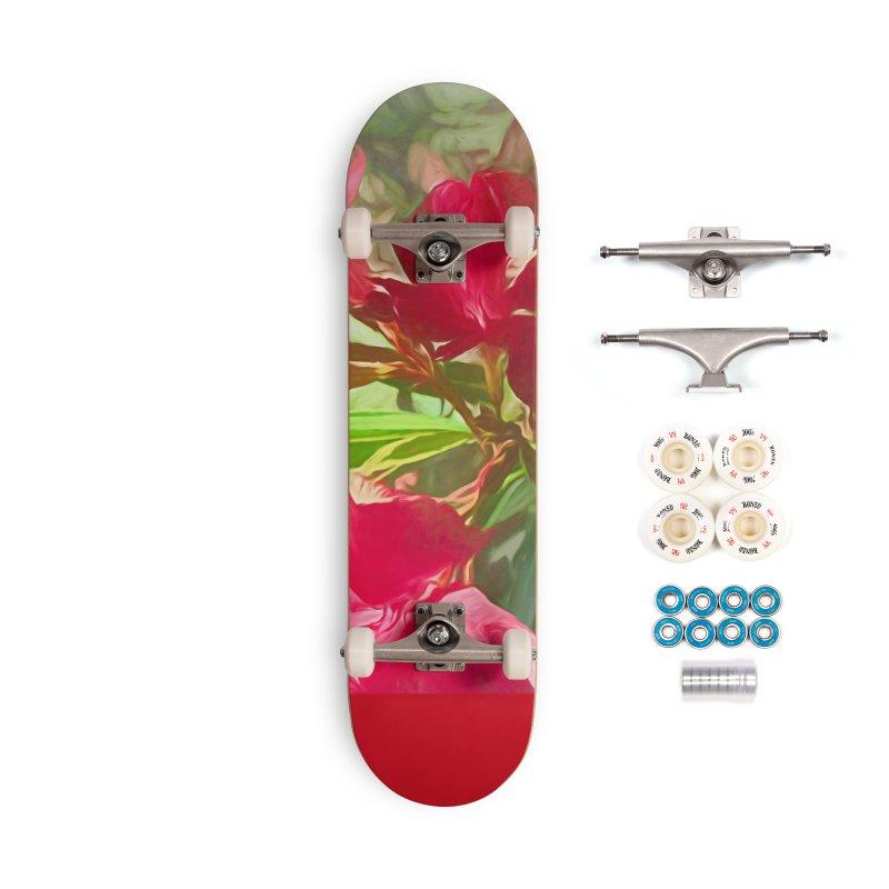 Pink Oleander Accessories Complete - Premium Skateboard by Jasmina Seidl's Artist Shop