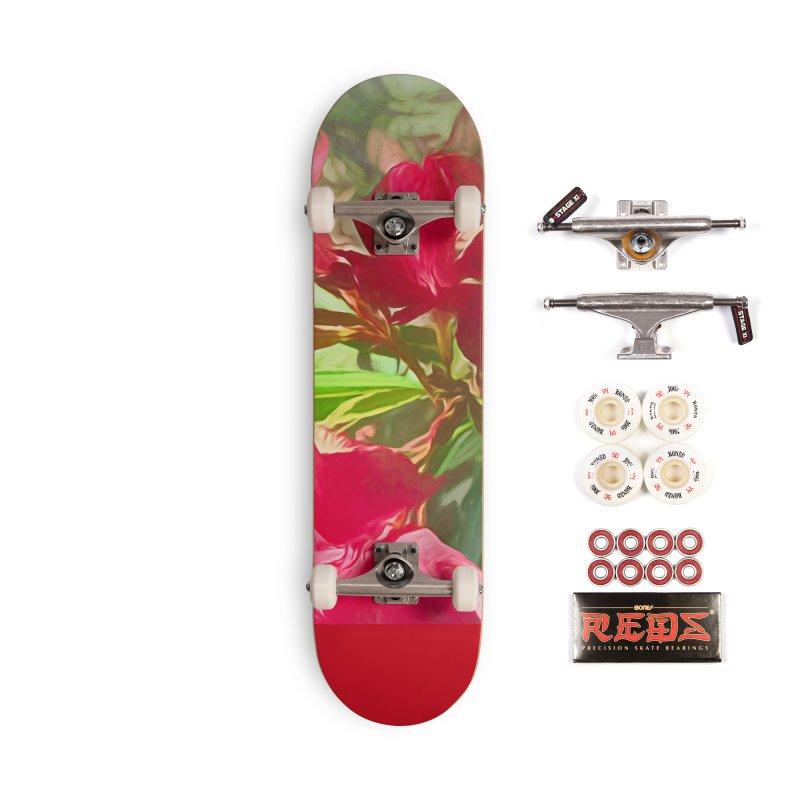 Pink Oleander Accessories Complete - Pro Skateboard by Jasmina Seidl's Artist Shop