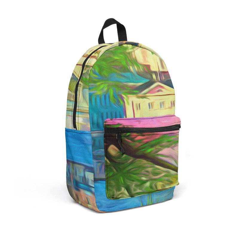 City of Rainbow Accessories Backpack Bag by Jasmina Seidl's Artist Shop