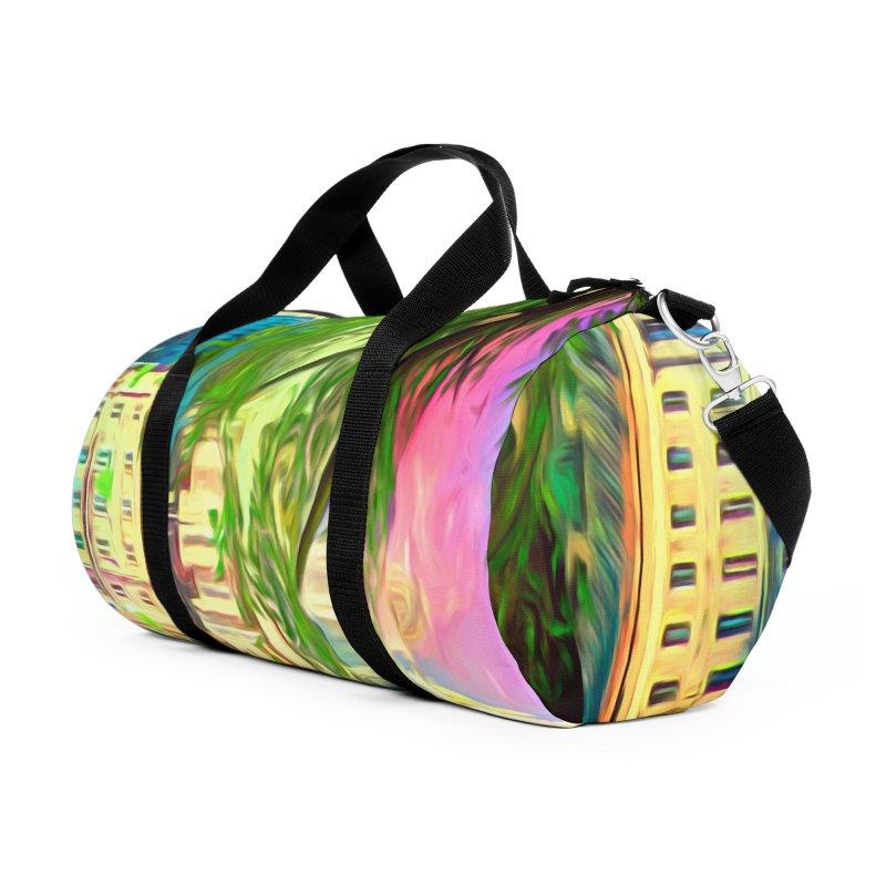 City of Rainbow Accessories Duffel Bag Bag by Jasmina Seidl's Artist Shop