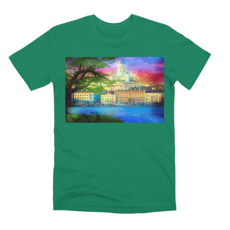 City of Rainbow Men's Premium T-Shirt by Jasmina Seidl's Artist Shop
