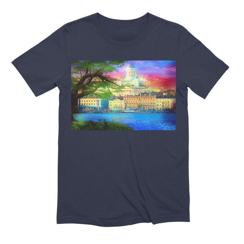 City of Rainbow Men's Extra Soft T-Shirt by Jasmina Seidl's Artist Shop
