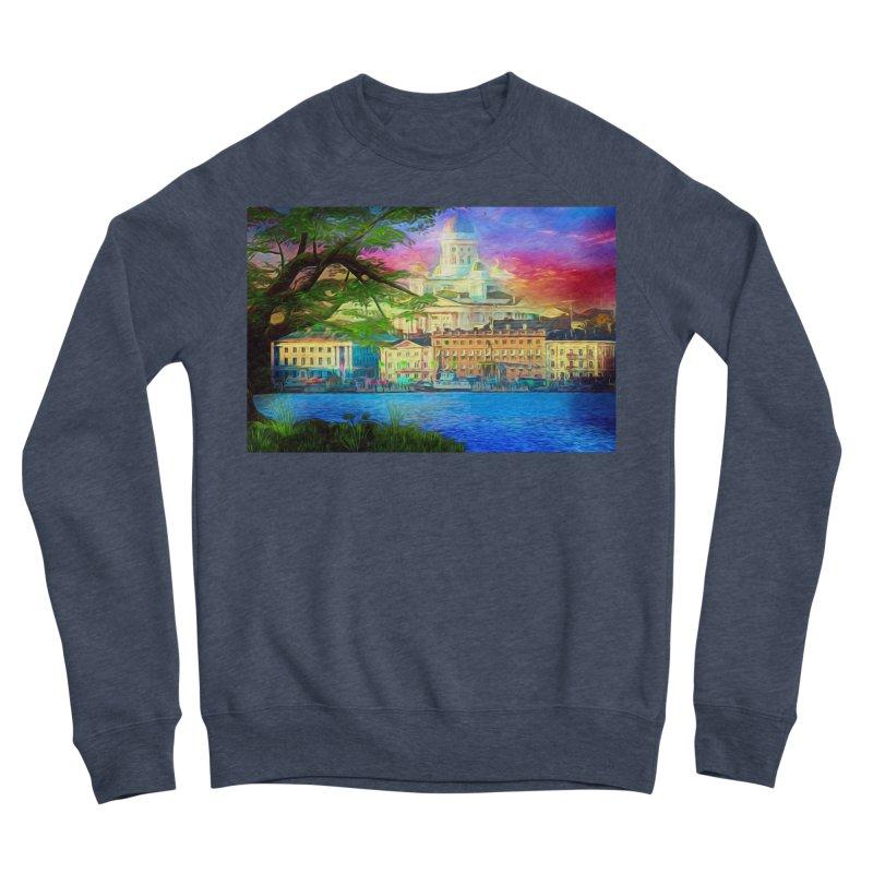 City of Rainbow Men's Sponge Fleece Sweatshirt by Jasmina Seidl's Artist Shop