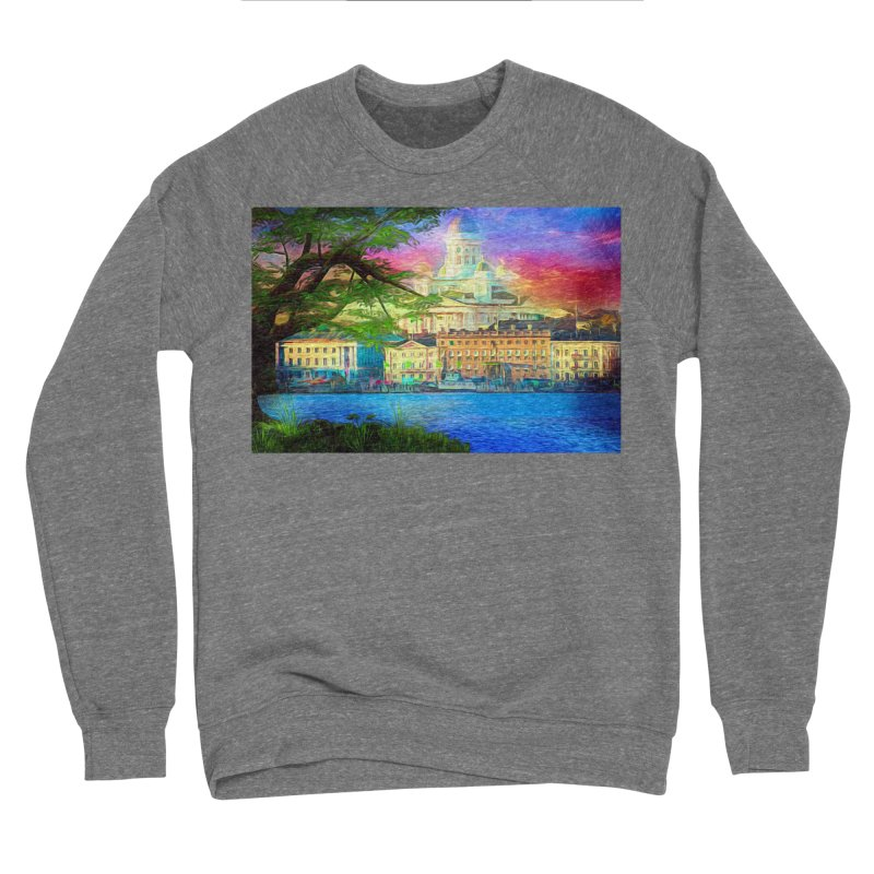 City of Rainbow Women's Sponge Fleece Sweatshirt by Jasmina Seidl's Artist Shop