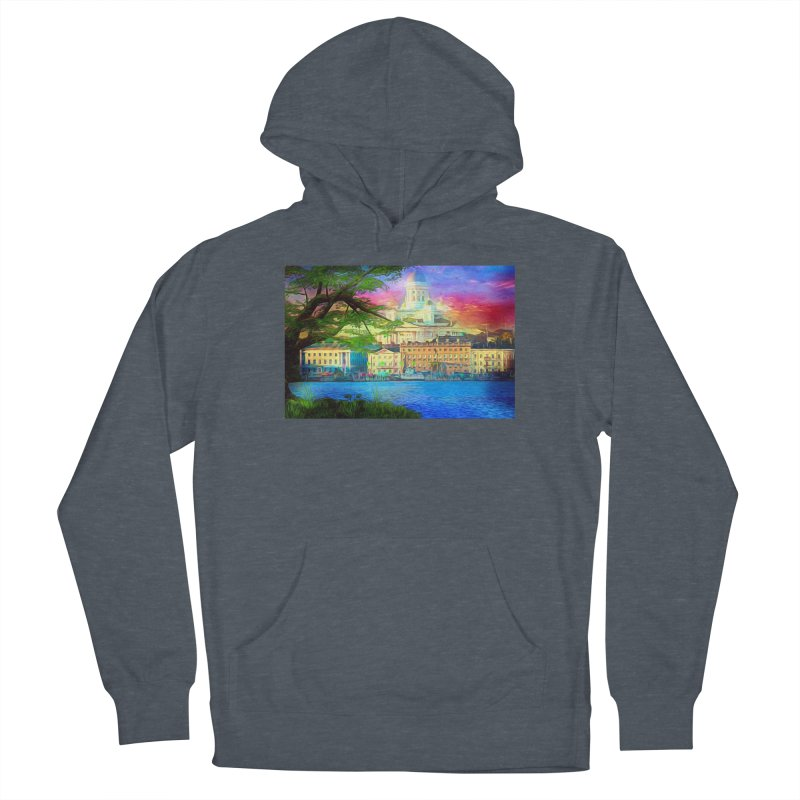 City of Rainbow Men's French Terry Pullover Hoody by Jasmina Seidl's Artist Shop