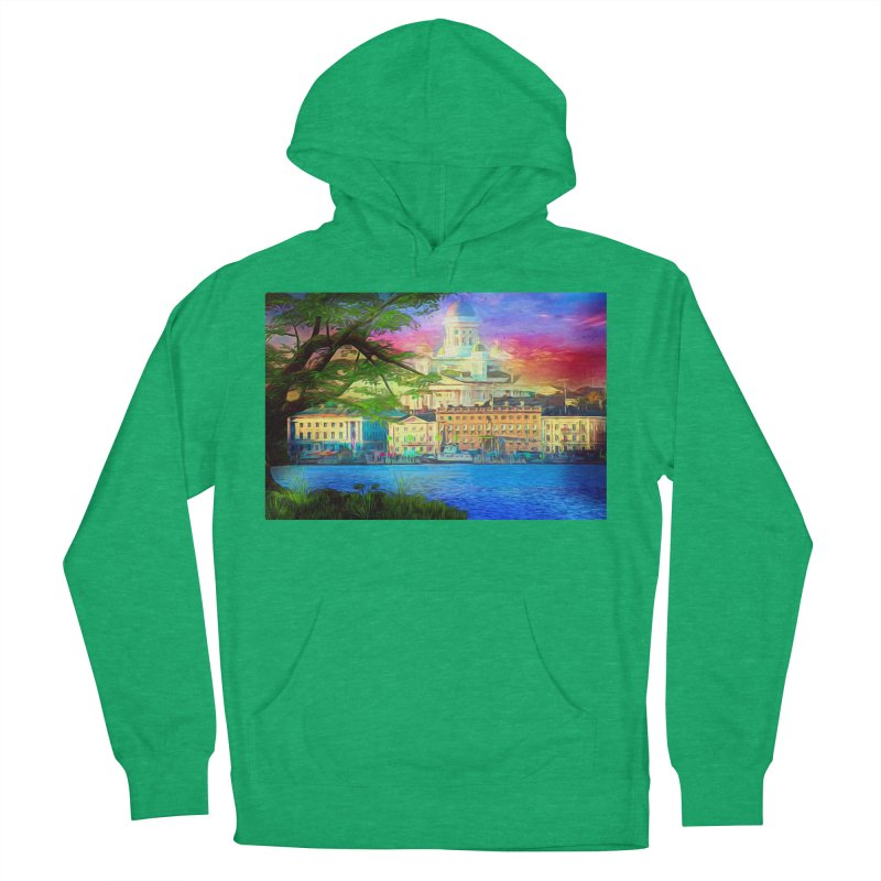 City of Rainbow Women's French Terry Pullover Hoody by Jasmina Seidl's Artist Shop